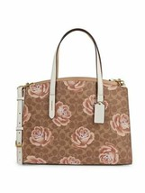 Coach 31667 Charlie Carryall Signature Logo Rose Print Camoflage Zip Clo... - $185.67
