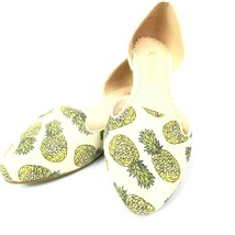 Restricted Womens Shoes Slip On Flats Pointed Toe Pineapple Size 6 - $32.99