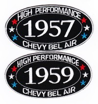 1957 1959 Chevy Bel Air SEW/IRON On Patch Badge Emblem Embroidered Car - $12.50