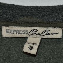 Express One Eleven Women's Faded Camo Crew Neck Front Pocket Sweatshirt Size XS image 3