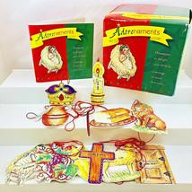 Adorenaments Family Life Box of 12 Christian Religious Ornaments w Mini ... - $24.74