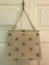 1960's LUMURED Beaded Handbag Purse Made in the USA RARE VTG Gem NEW Con... - $86.85