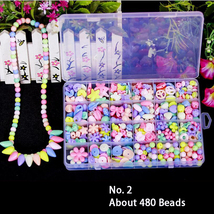 Bead Kits for Jewelry Making - Craft Beads for Kids Girls Jewelry Making... - $14.99