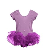 Girls Ballet Dress Dance Tutu Dress Purple Pink 2 3 4 5 6 7 Years - $20.21