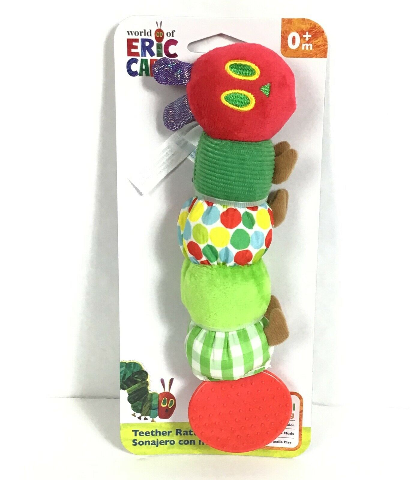 Very Hungry Caterpillar  Eric Carle Infant Baby Teether Rattle Crinkle C1-5 image 3