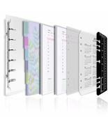 Rancco A5 Writing Notebook Loose Leaf Binder Filofax Journal, Clear 6-Ri... - $19.71