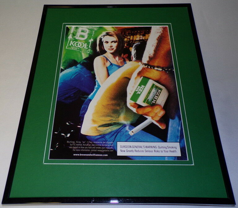 Primary image for 2000 Kool Cigarettes Framed 11x14 ORIGINAL Advertisement