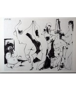 PICASSO Engraving Dated 1954 w/COA. UNIQUE Gift of Rare Art, Pablo Picas... - $195.00