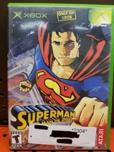 Superman: The Man of Steel (Microsoft Xbox, 2002) Complete Original Tested - $9.89