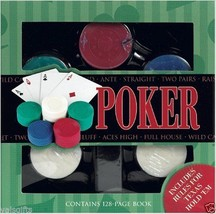 Poker Gift Set - Chips, Cards, Instructions, rules, Texas Hold Em game ~... - $24.74