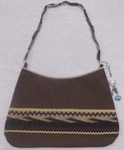 Native American Patchwork Ladie's Bag Purse Brown Handmade Seminole Bear... - $59.99