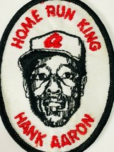 Vintage Hank Aaron Home Run King Collectible Patch Braves MLB Baseball Embroide - $34.99