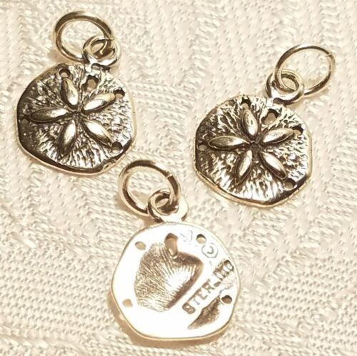 Sand dollar Sterling Silver charm 925 Sanddollar