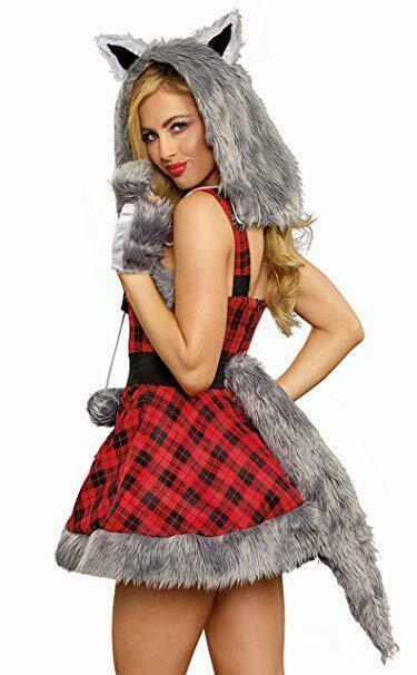 Dreamgirl Big Bad Wolf Furry Animals Sexy Adult Womens Halloween Costume 11182 image 4