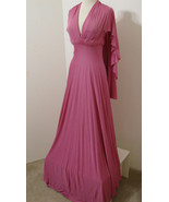 CUSTOM STUDIO MADE Vintage Pink Empire Angel Wing Asy Cut Gown S - $359.99