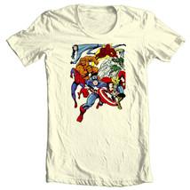 MARVEL Comic T-shirt Superhero collage vintage retro comic book 100% cotton tee image 2