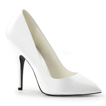 """PLEASER Classic Sexy Shiny White 5"""" High Heels Bridal Pumps Shoes SED420/W - $34.95"""