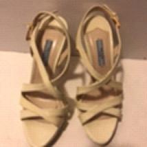 Prada Off White Heel Open Toe Size 36 - $98.99