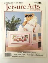 VTG Leisure Arts Magazine August 1988 Crafts Cross Stitch Bear Watermelo... - $7.80