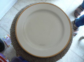 Homer Laughlin 12 inch rd platter (Brown Band) 1 availa - $8.86