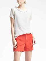 Banana Republic Fringe Trim Top, 100% Polyester, Lined, White, Size M, NWT - $29.92