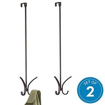 "iDesign Axis Easy Reach 24"" Quad Hook, Over the Door Towel Holder or Coat Rack -"