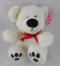 "The Petting Zoo White Polar Bear Plush Sits 7.5"" Stuffed Animal - $7.35"