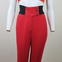 Vintage Tyrolia Skiwear Red Stretch Stirrup Pants Womens Size 8 Regular ... - $59.39