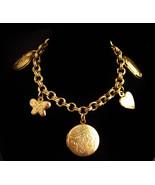 vintage locket Bracelet - heart locket - specialty gift - sentimental Gi... - $65.00
