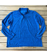 nike dri fit Men's half zip pullover athletic Running top Size L Blue He... - $17.72