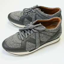 Jimmy Choo Women's Gray London Felt Leather & Suede Sneakers Shoes size 40 US 10 - $399.99