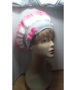 Pink and Grey with a bow - $9.45