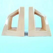 Jaru Art Products Light Orange Ceramic Bookends MCM Modernist 1977 - $79.99