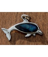 Nice Used Dolphin Charm, Silver Tone, PRETTY,  GREAT LITTLE CHARM - $6.92