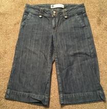 Womens Gap Low Rise Croppedjean Bermuda Shorts, Size 2  - $18.99