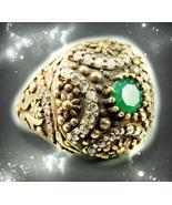 HAUNTED RING OOAK SOLOMON DJINN ROYAL BLOOS POWER & RICHES VESSEL MAGICK  - $220.77