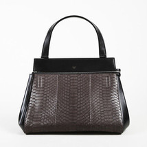 Celine NWOT Anthracite Python Edge Top Handle SZ: Medium - $3,005.00