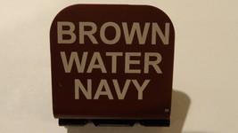 Brown Water Navy Laser Etched Aluminum Hat Clip Brim-it - $11.99