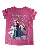 "Disney Store Girls - Frozen - ""Do You Want to Build a Snowman?"" T-Shirt,... - $12.00"