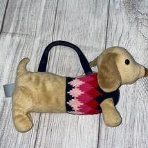 Gymboree Puppy School Argyle Knit Dog Purse - $23.95