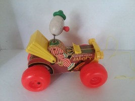 Vintage Fisher Price Jalopy Car Pull Along Wooden Clown Jalopy Car # 724 1965 - $7.59