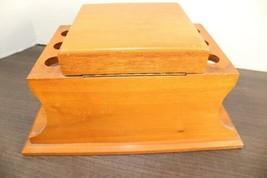"Vintage Large 12"" Dunhill Wood Pipe & Cigar Holder Stand Rack Stash Box Tobacco image 2"