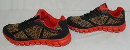 Crazy Train RUNWILD14 Black Red Cheetah Sneakers Size Ten image 5