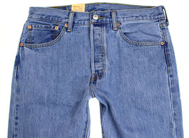Levi's 501 Men's Original Fit Straight Leg Jeans Button Fly 501-0134 image 2