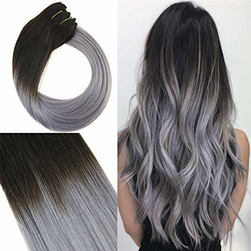 Youngsee 16 inch Ombre Hidden Halo Hair Extensions Natural ...