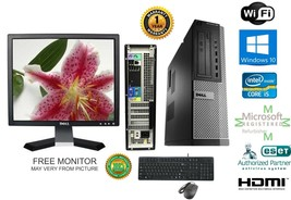 Dell 990 Optiplex DESKTOP i5 2400 Quad 3.1GHz 8GB 120gb SSD Windows 10 hp 64 KMM - $464.46