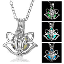 Belleper Glowing In The Dark Lotus Flower Hollow Luminous Rhinestone Pen... - $9.53