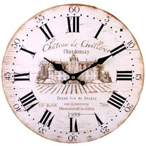 MDF Shabby Chic Chateau De Guilleroi Wall Clock; 75911 - $18.90