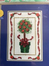 Janlynn Christmas Topiary Tree Counted Cross Stitch Kit True Colors 157-... - $7.76