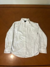 Boys Kids Children's Place White Long Sleeve Button Down Shirt Size 7-8 - $8.90